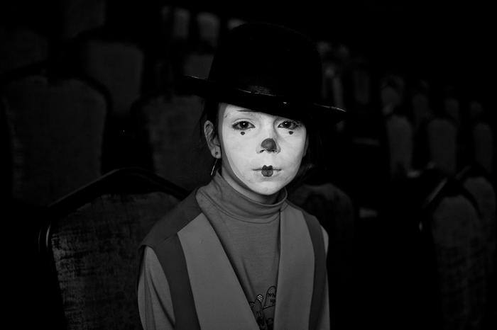 Клоун. (детское др) Фотография, Черно-Белое, Портрет, Дети, Праздники, Театр, Настроение, Длиннопост