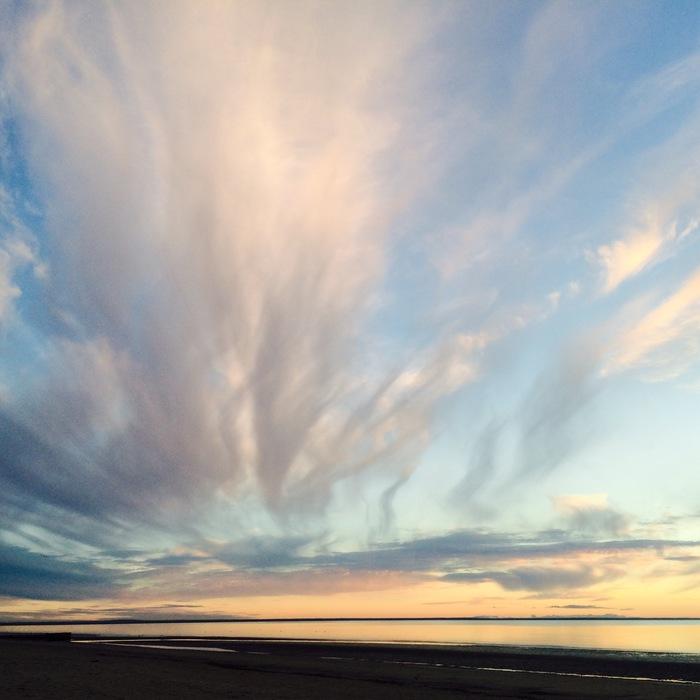 Северные закаты Закат, Белое море, Ягры, Северодвинск, Длиннопост