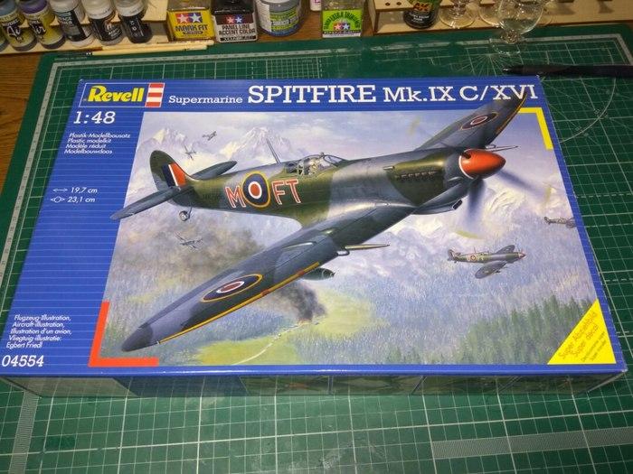 Spitfire mk.IXe 1:48 Revell Стендовый моделизм, Spitfire, Авиация, Длиннопост