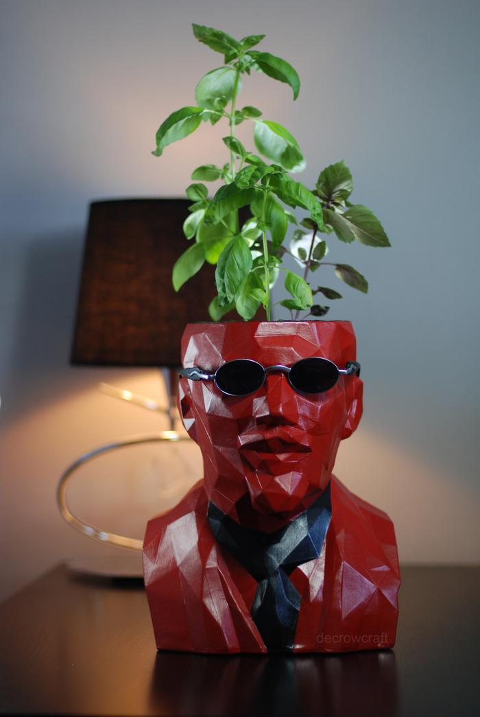 Ленин это не только гриб, но ещё и базилик! Papercraft, Скульптура, Ленин, Decrowcraft, Бумага, Pepakura, Из бумаги, Low poly, Длиннопост