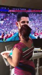 """""""Я на 100% убеждена,что моя бабушка была причиной того, что Мексика выиграла"""" Юмор, Футбол, Чемпионат мира по футболу, Гифка, Вера"""