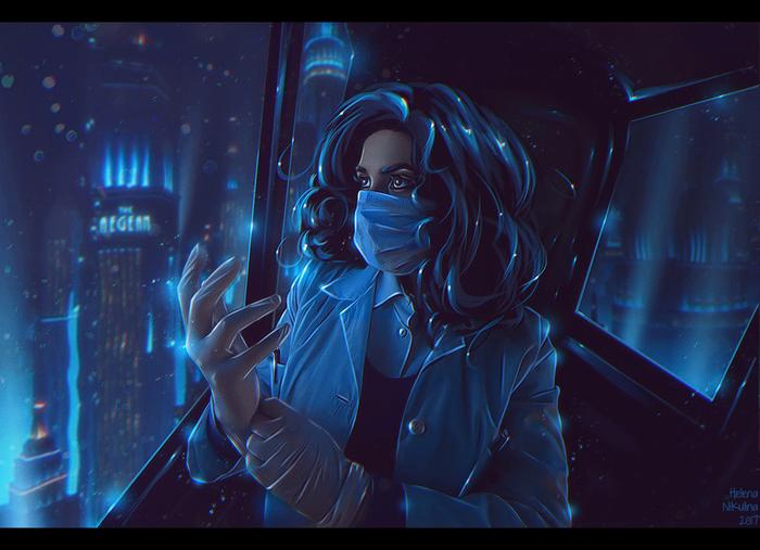 "ADAM Discovery.Фан-арт по игре ""Bioshock"". Арт, Елена Никулина, Bioshock, Бриджит Тененбаум, Игры, Фан-Арт"
