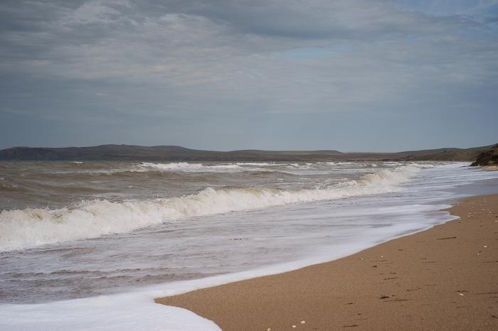 Пасмурное Азовское море