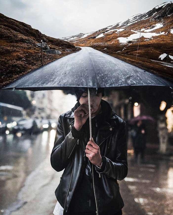 Непогода Фотография, Зонт, Хреновая погода, Курение
