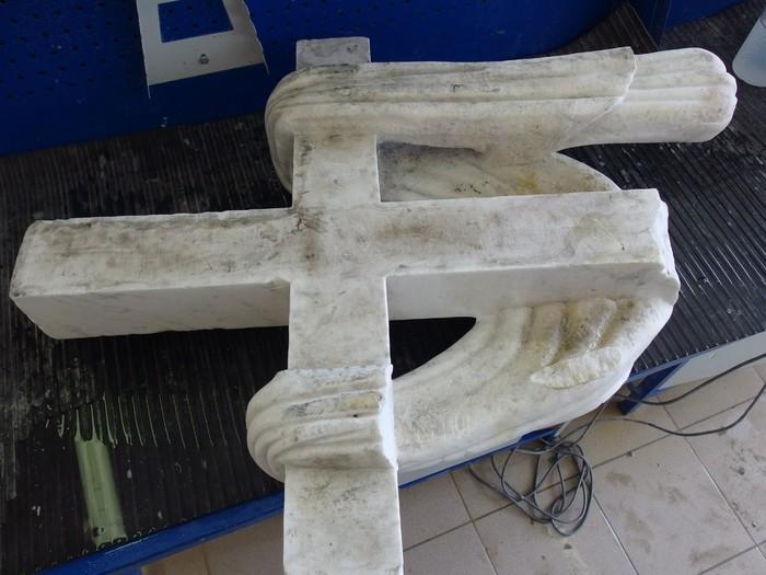 Реставрация алтарного креста базилики св. Екатерины. Финал. Резьба по камню, Мрамор, Крест, Церковь, Санкт-Петербург, Реставрация, Длиннопост
