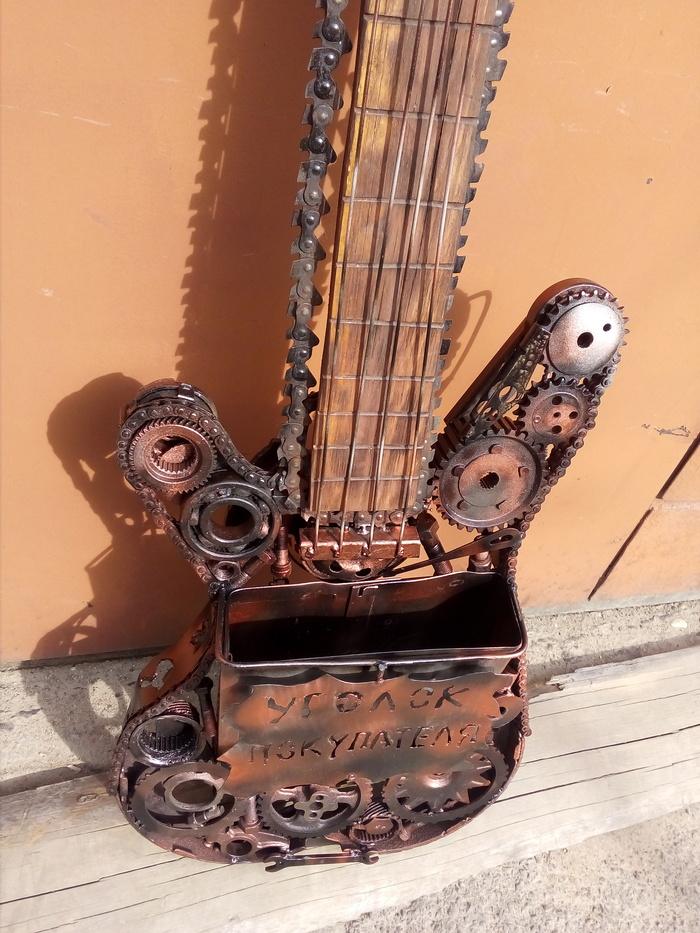 Гитара-уголок покупателя Гитара, Бас-Гитара, Сварка, Своими руками, Скульптура, Стимпанк, Длиннопост