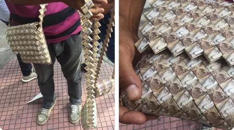 Гиперинфляция Инфляция, деньги, Венесуэла, фотография, сумка