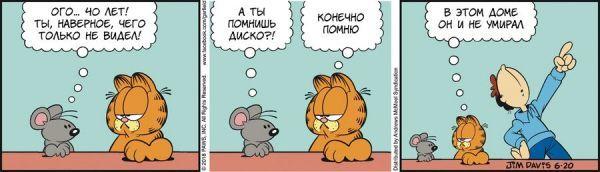 Перевод Гарфилда, 20 июня 2018г. Гарфилд, перевод, комиксы, юмор, кот
