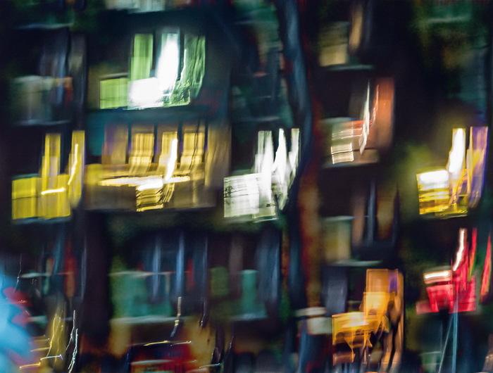 Ночные окна ночь, окно, фотография