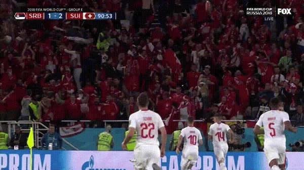 Швейцарские фанаты бросили Джердану Шакири целую головку сыра после его победного гола Фотография, Гифка, Футбол, Чемпионат мира, Фанаты, Сыр, Надувная игрушка