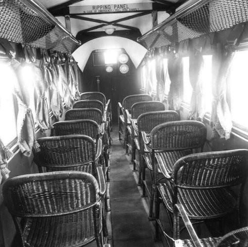Салон пассажирского самолета авиакомпании Imperial Airlines, 1936 год.