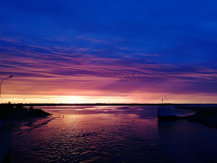 Закат на Белом море Белое море, Закат, Длиннопост