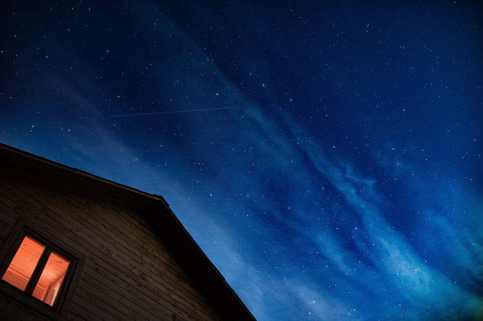 На даче... Небо, Ночь, Фотография, Звёзды