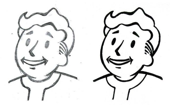 Сборник классических волт-боев от художников Fallout: Nevada Fallout, Fallout of Nevada, Игры, Vault Boy, Компьютерные игры, Рисунок, Длиннопост