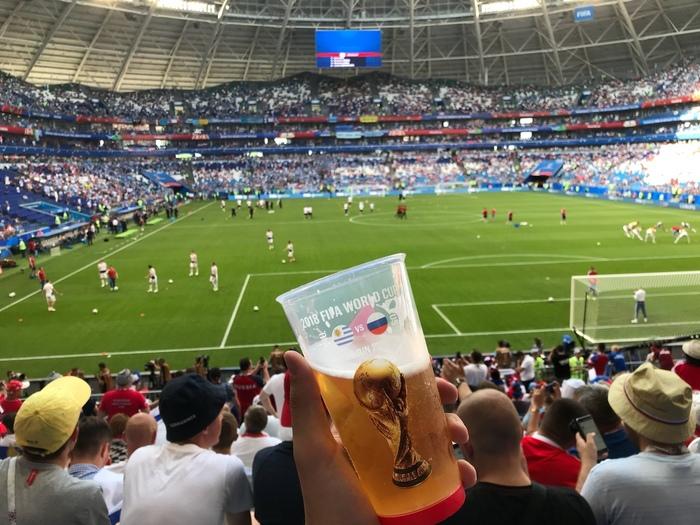 Первое фото со стадиона, Самара-Арена Россия-Уругвай! Россия, Уругвай, Футбол, Самара, Чемпионат мира, Москва, Fifa, Длиннопост