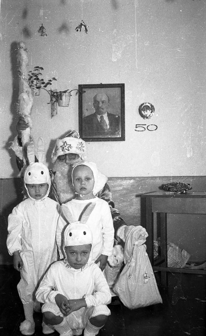 Ленин.Зайцы.Дед Мороз Краснодарский Край, 1970, Интересное, Фотография, Ретро, Новый Год