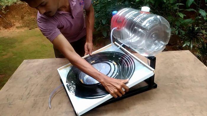 Горячая вода на даче: солнечная водогрейка своими руками Длиннопост, Своими руками, Солнечный водонагрев
