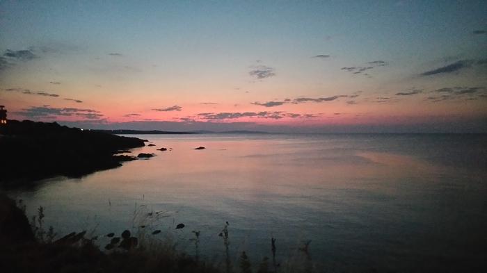 Закат на море Море, Закат