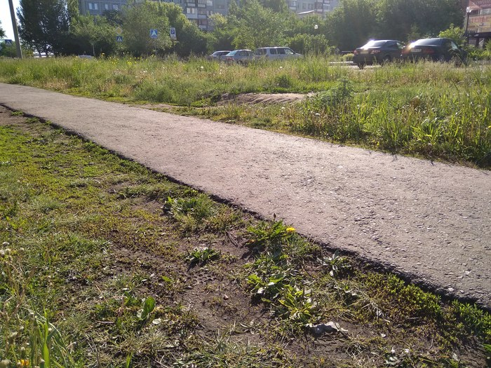 Тротуар-ливневка из Омска Омск, Администрация, Тротуар, Ливневка, Разгильдяйство, Пофигизм