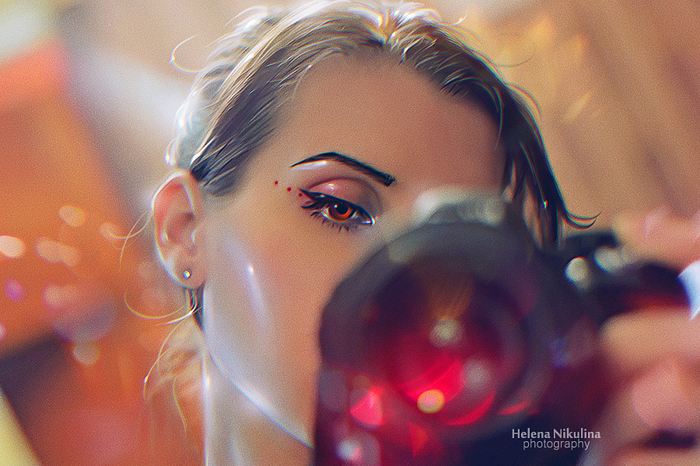 Просто я). 22 февраля 2018. Фотография, Селфи, Nikon d3100, Автопортрет, Елена Никулина