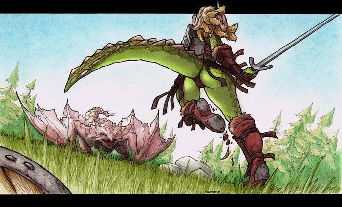 Будни драконорожденной Арт, The Elder Scrolls V: Skyrim, The Elder Scrolls, Ewgengster, Нужна клубничка?