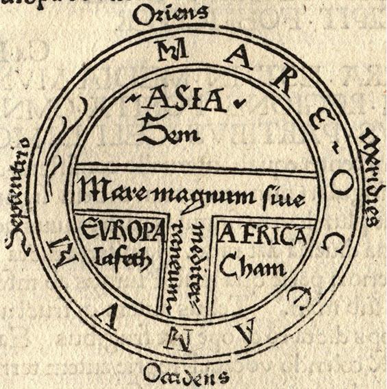 Подписать на древнегреческой карте известные ученым того времени земли