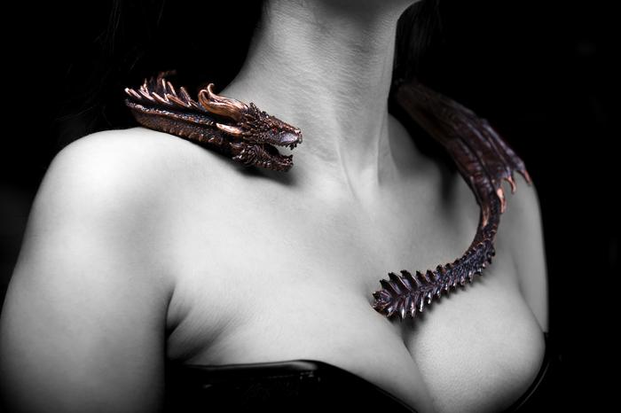 Колье по мотивам Игры Престолов - дракон Дрогон Дрогон, Мать драконов, Игра престолов, Ручная работа, Дракон, Сиськи, Своими руками, Handmade, Длиннопост