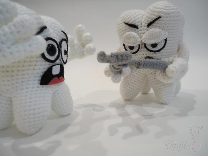 Больная тема Handmade, Мягкая игрушка, Игрушка ручной работы, Зубы, Врачи, Стоматолог, Подарок стоматологу, Длиннопост