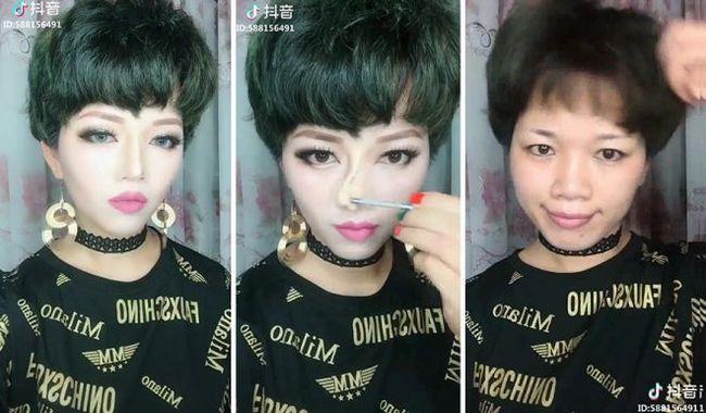 Азиатские девушки снимают макияж Азиатка, Макияж, Грим, До и после, Длиннопост