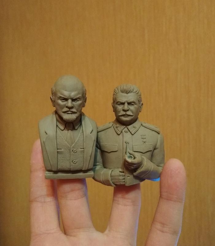 Товарищи Моё, Скульптура, Полимерная глина, Ручная работа, Путин, Ленин, Сталин, Supersculpey, Длиннопост