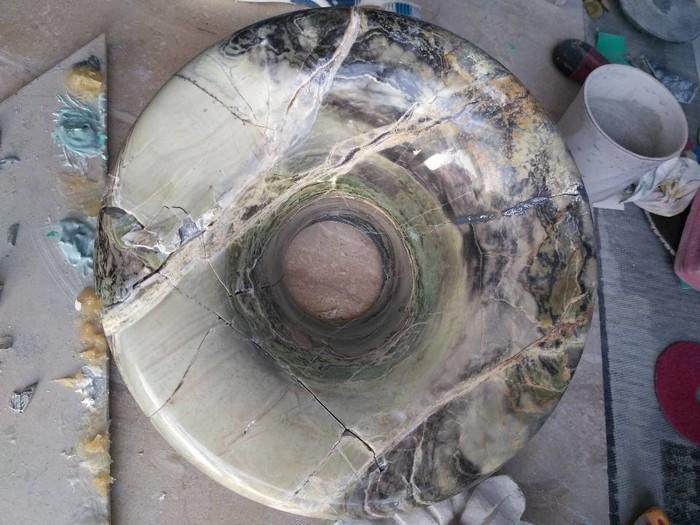 Реставрация вазы из яшмы Реставрация, Мрамор, Ваза, Кот, Криворукость, Длиннопост