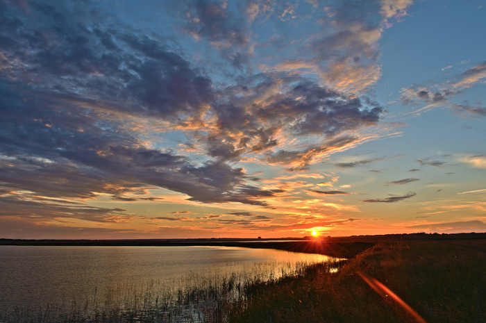 Тёплый закат... Омск, Nikon, Закат, HDR
