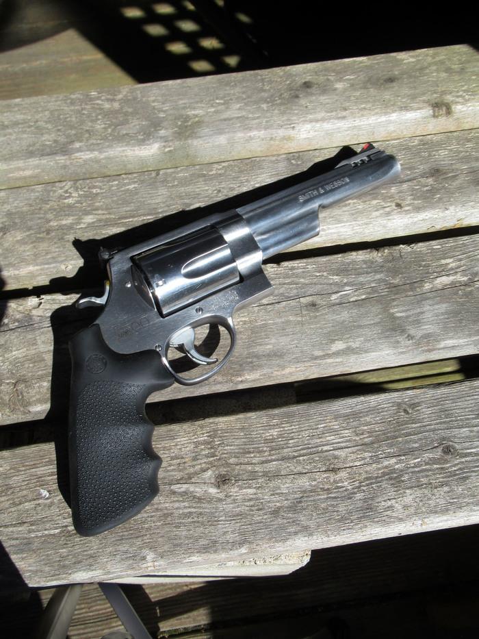 Револьвер Смит и Вессон 500 Магнум оружие, револьвер, смит и вессон, 500 magnum, длиннопост