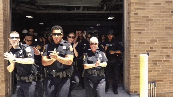 Американские полицейские запустили смешной флешмоб. Поддержат ли наши?.. США, Полиция, Флешмоб, Артистичность, Норфолк, Социальные сети, Liferu, Общество, Гифка, Видео
