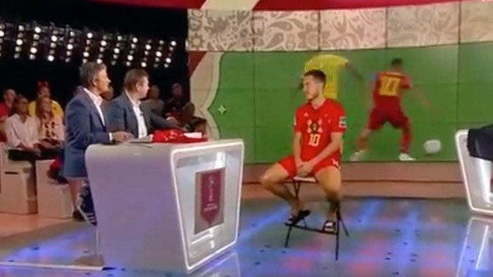Бельгийский футболист Эден Азар дал интервью в виде голограммы Футбол, Чемпионат мира по футболу, Чемпионат мира по футболу 2018, Технологии, Голограмма