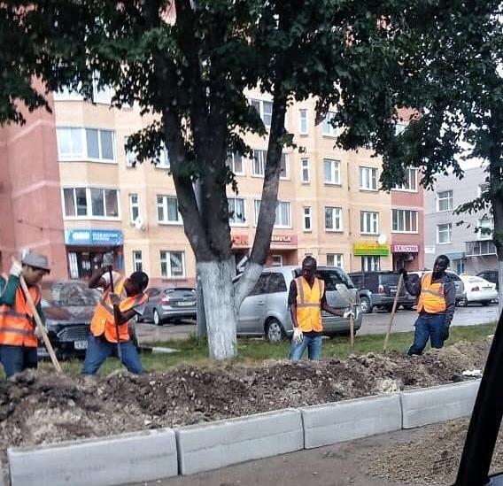 Ремонт улицы в Щёлково Щелково, Негр, Ремонт, Улицы, Работа