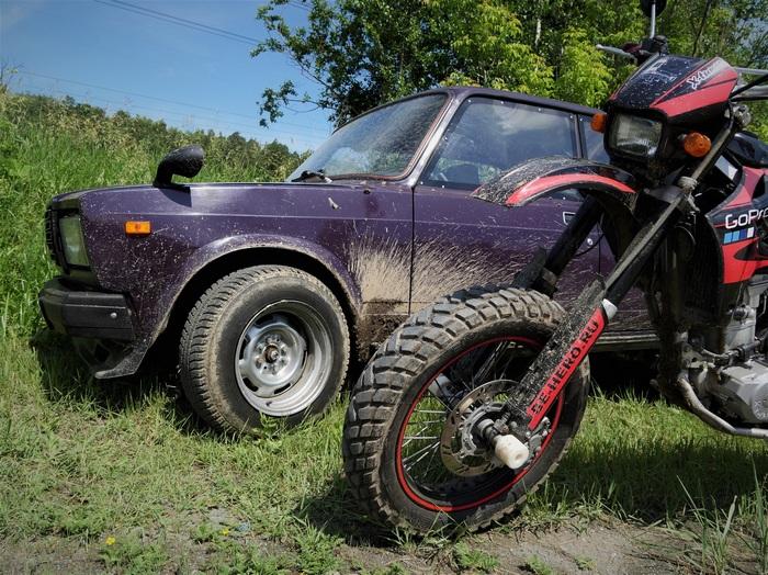 Rally Sport в названии рычагов манит балбесов или как я по лесной трассе с мотоциклом гонял. Ремонт авто, Своими руками, АвтоВАЗ, Ваз-2107, Ралли, Гонки, Видео, Длиннопост