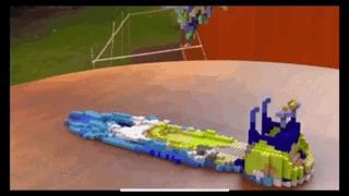 Анимированная лодка из Lego LEGO, Анимация, Лодка, Удивительное, Reddit, Гифка