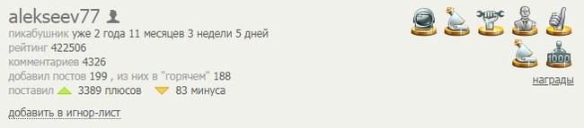 Алексеев, Алексеев... Alekseev77, Кармадрочерство