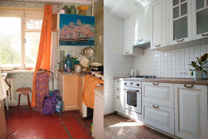Кухня: было — стало Кухня, Ремонт, Дизайн, Интерьер, Дизайн интерьера, Переделка