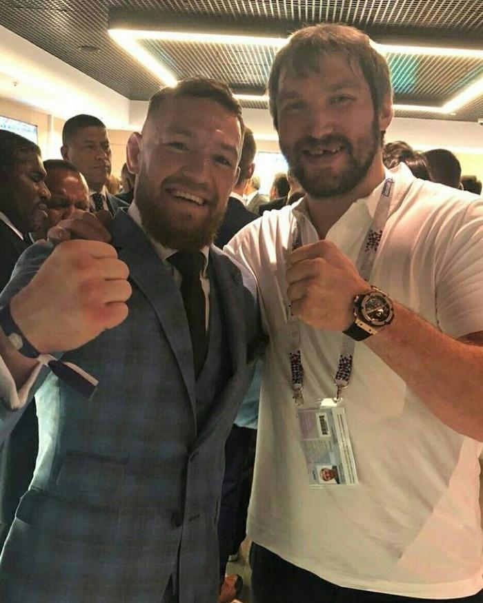 КонорМакгрегор и Александр Овечкин на финале Чемпионата мира по футболу