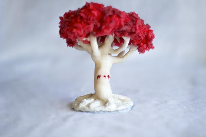 Чардрево из Игр Престолов, грустненькое Игра престолов, полимерная глина, своими руками, handmade, фигурка, зима близко, дерево, длиннопост