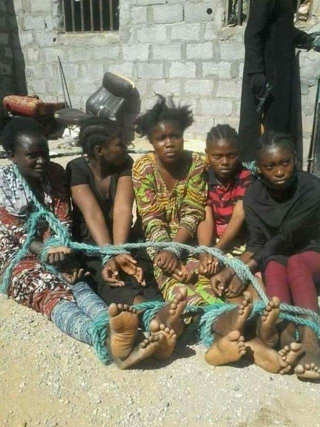 Нигеры выбирают белых рабынь 2