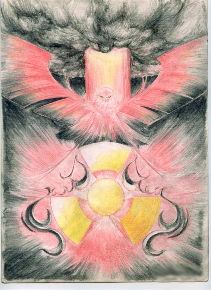 Атомный феникс Рисунок, Атомный феникс