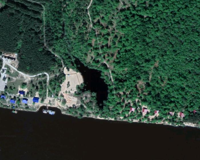 Непонятная заплатка на Яндекс картах. Дзержинск, Река, Захват земли, Частная застройка, Беззаконие, Публичная кадастровая карта, Яндекс, Окей гугл, Длиннопост