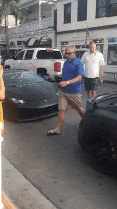 Хэй, смотрите на меня Гифка, Авто, Lamborghini, Стекло, Fail