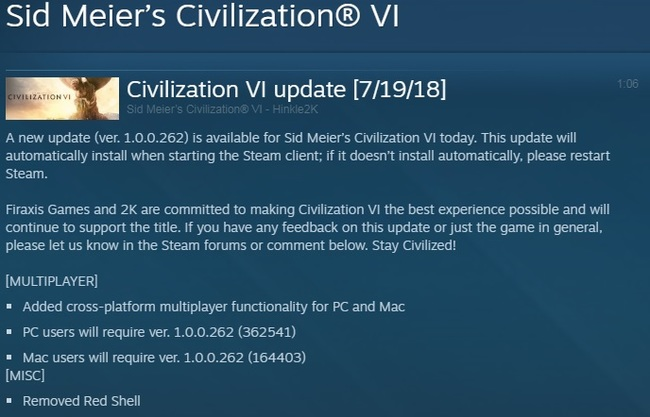 Civilization VI избавляется от Red Shell Civilization VI, Red Shell, Компьютерные игры