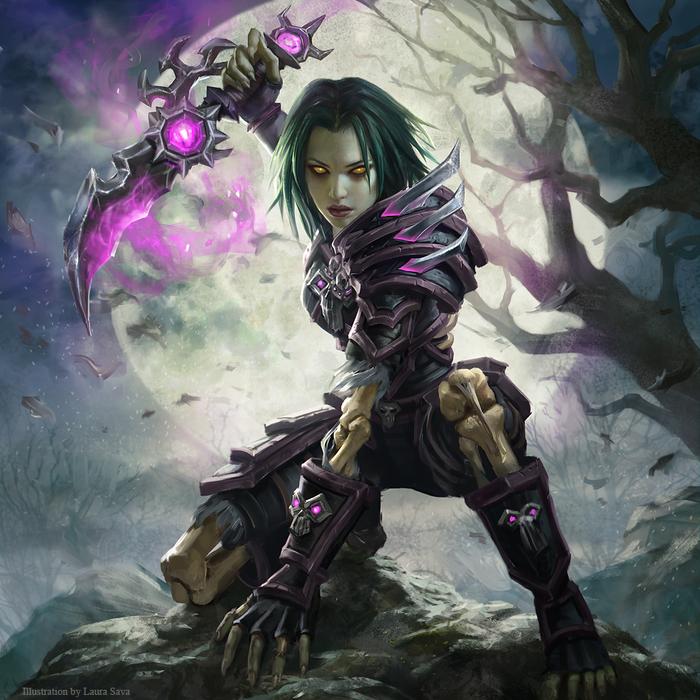 Undead Rogue Art Арт, Laura Sava, Wow, World of Warcraft, Warcraft, Undead, Нежить