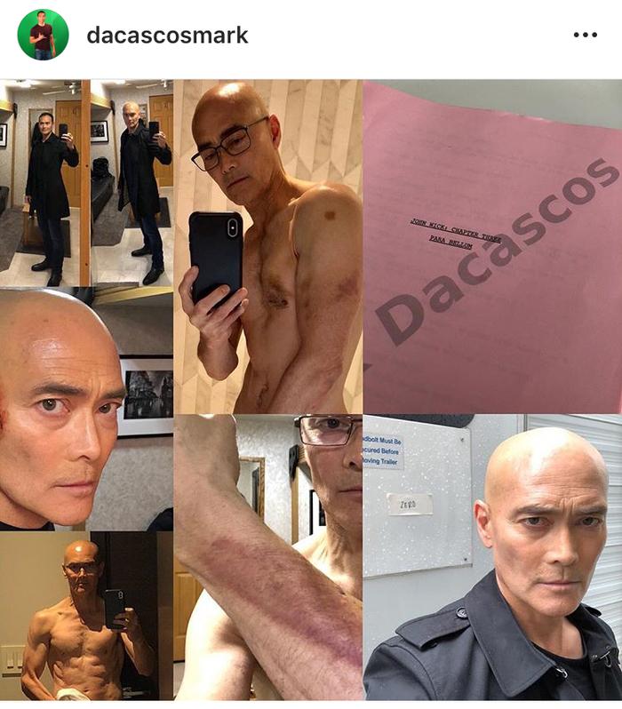 Марк Дакаскос выложил в instagram фото с ушибами от съёмок Джона Уика 3.