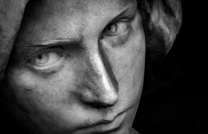 Взгляд Скульптура, Италия, Кладбище, Мрамор, Длиннопост
